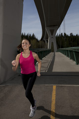 Young Woman Running/Jogging