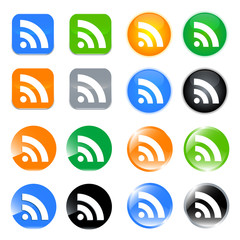 rss icon-vector set