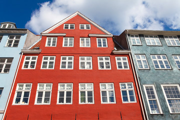 World famous Nyhavn in Copenhagen, Denmark