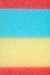 macro colorful sponges