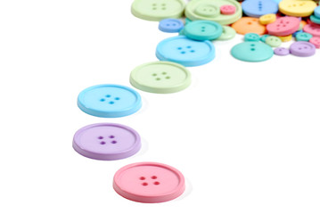 colorful line of clothing buttons