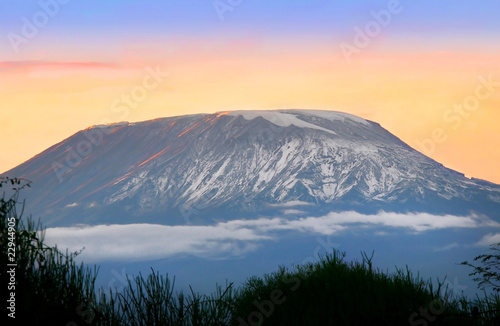 Aluminium Vulkaan Sunrise on mount Kilimanjaro