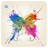 Vector decorative butterfly - 22947307