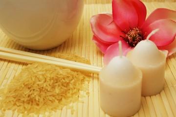 Reisgericht mit Kerzen ...
