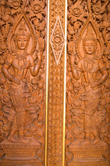 The door of buddhist temple