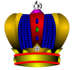 The crown with diamond