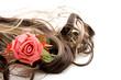 Perücke mit Rose