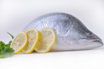 Fresh fish with lemon