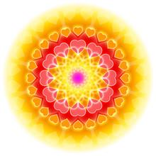 Kärlek Mandala 01 - Blomningen av hjärtat
