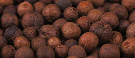 background made of allspice