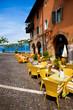 Café in Torri del Benaco, Gardasee