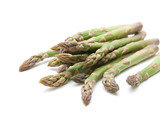 fresh asparagus spears isolated on white poster