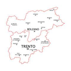 Trentino Alto Adige province e città