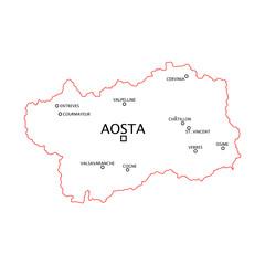 Valle D'Aosta province e città