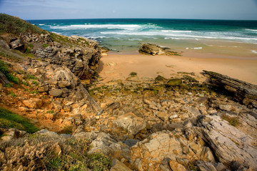 Praia do Guincho. Atlantic coast of Portugal near Sintra.