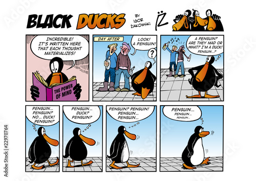 Foto op Plexiglas Comics Black Ducks Comic Strip episode 44
