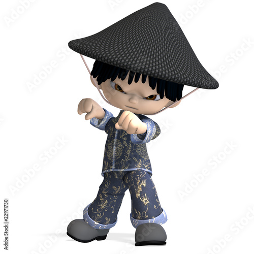 Cute Boys On Photo Little Cartoon China Boy Is So And Funny 3d Rendering