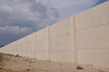 View of the prison walls