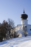 Church of the Assumption  in the city of Pskov poster