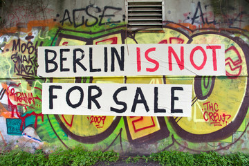 Berlin is not for sale