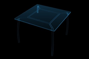 Table 3D X-Ray Blue Transparent