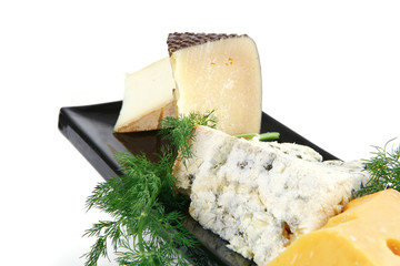 plate with cheese