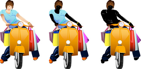 Shopping in vespa