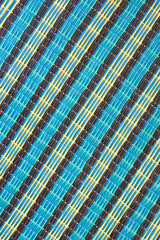 Stripe of mat woven from plastic