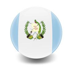 Esfera brillante con bandera Guatemala