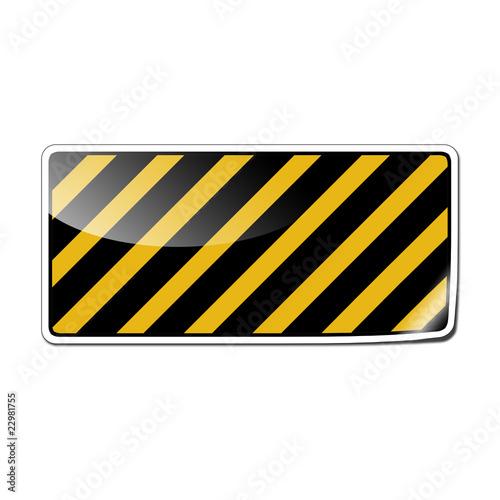 Pegatina con simbolo de zona de seguridad