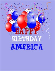 birthday greeting for america's birthday in 3d