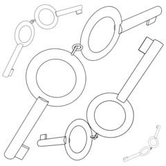 Four Pairs Of Keys For The Handcuffs Vector 02