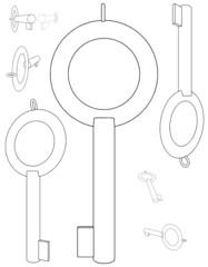 Handcuffs Key Vector 01