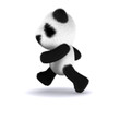 3d Panda teddy runs