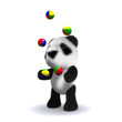 3d Juggling Panda bear