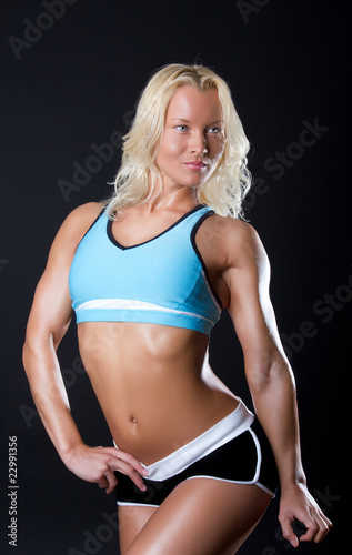 woman with athletic body