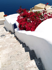 Stair to the blue sea, Santorini, Greece