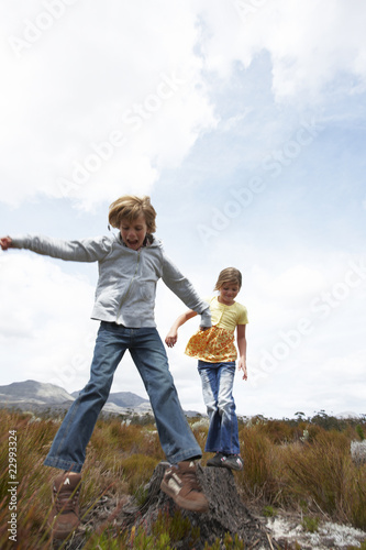 Kids in fields
