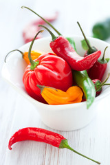Mixed hot peppers