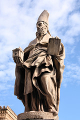 Saint Augustine of Canterbury, statue in Palermo