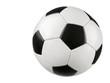 Fußball auf reinem Weiß Studioaufnahme