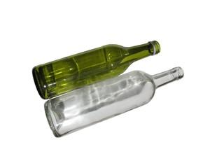 Bouteilles en verre vide