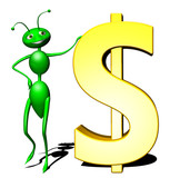 Formica Dollaro-Dollar Ant Cartoon