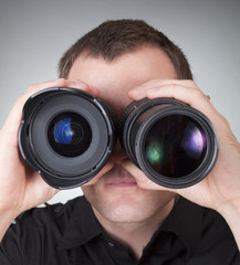 Men with two lenses
