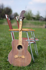guitar in the field