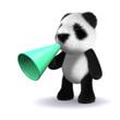 3d Teddy has a megaphone