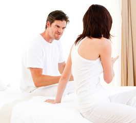 Frustrated couple having an argument