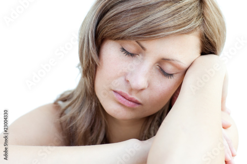 Portrait of a beautiful woman sleeping