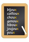 Fototapety Ardoise_Grammaire_Bijoux