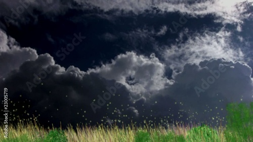 Video motion background: clouds